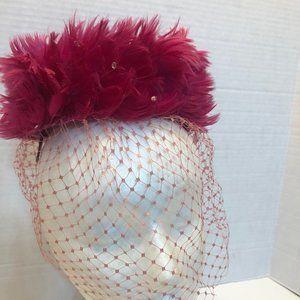 Vintage Pink Button Style Hat / Maker Evelyn Varon
